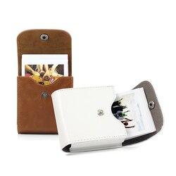 Fujifilm instax mini 8 9 caso retro couro botão bolsa foto caso sq10 sq6 sq20 x10 fujifilm mini 25 para armazenamento saco da câmera