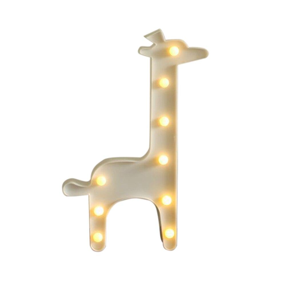 Dekoration 3D Wand Schreibtisch Dekor Partei Liefert Kinder Zimmer Nacht Licht LED Sculpt Lampe Giraffe tier Form Für Beleuchtung Hause