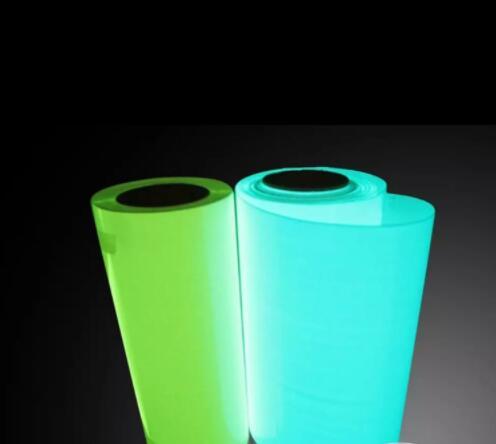"Glow in Dark 25cm x 50cm(10 ""x 20"") Máquina de prensado de vinilo por transferencia de calor, Plotter de corte, camiseta DIY, lámina azul o verde"