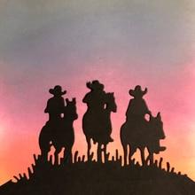 Matrices de découpe de cowboy   Matrice de découpe de métal de prairie, découpages artisanales, découpe de cartes en papier fin, pochoir de fabrication 10x5/4 cm