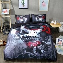 Cadılar bayramı Hediye 3D Baskılı zombi kafatası nevresim takımı 3/4 adet Nevresim yatak örtüsü seti Çarşaf Yastık Kılıfı e N e n e n e n e n e n e n e n e n e Kraliçe king-size yatak linen30