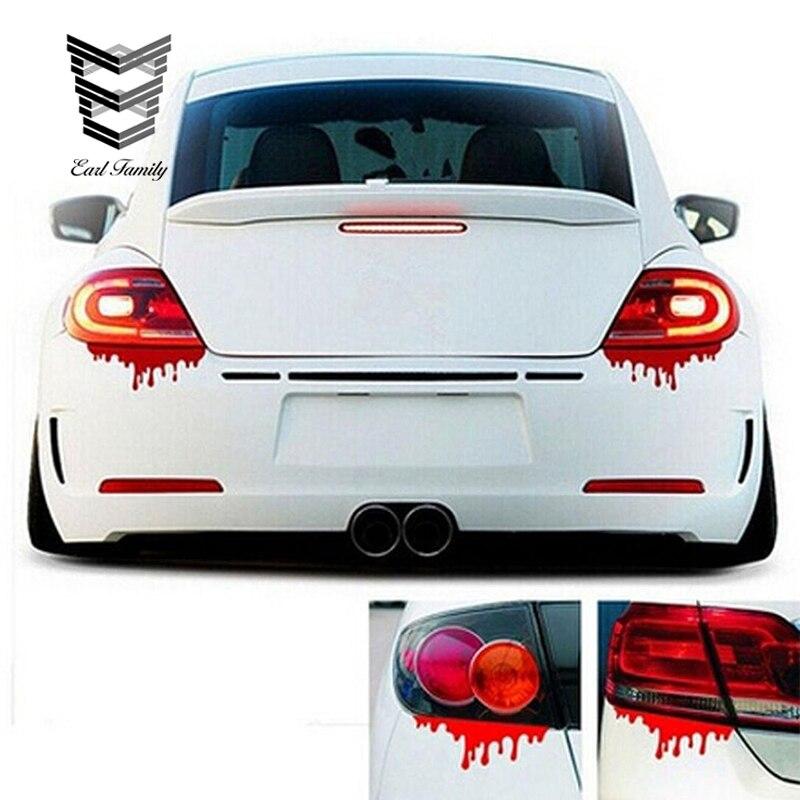 EARLFAMILY, pegatinas para coche de 14cm x 5cm, a la moda, rojo sangre, calcomanías impermeables para coche, calcomanía de parachoques ligero, para el cuerpo pegatina, decoración para coche