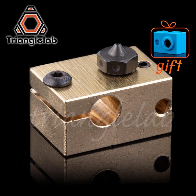 Hohe temperatur A2 Gehärtetem Stahl V6 Düsen + kupfer messing heizung block für druck PEI PEEK oder Carbon faser für e3D HOTEND