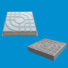 Behogar 25x25x4cm Square Shape Plastic Concrete Brick Mold for Garden Courtyard Walkway Pathway Flooring Catwalk Pavement