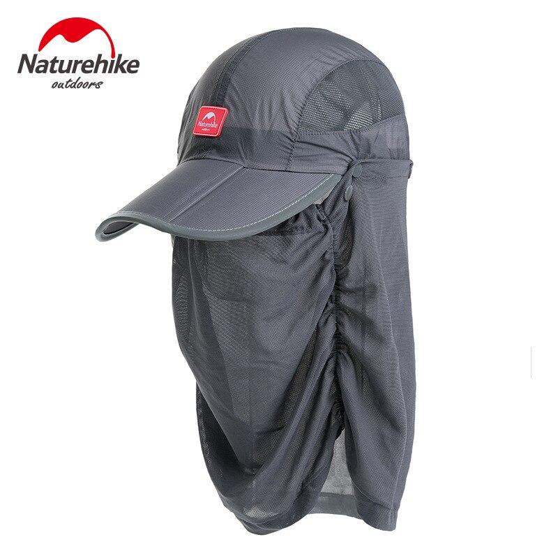 Naturehike Unisex protección Uv de verano gorra de pesca antimosquitos para hombre y mujer
