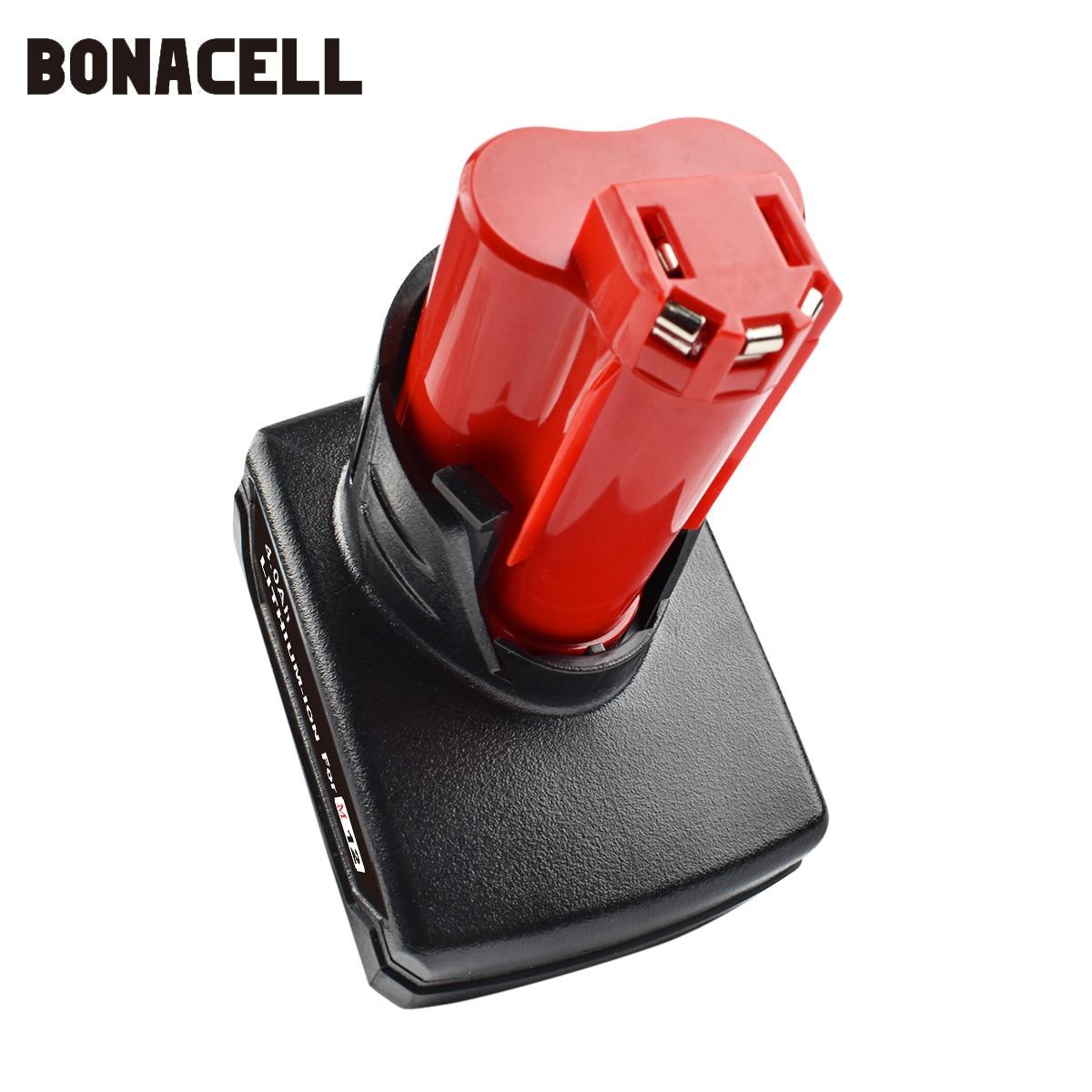 Bonacell 4000mAh 12V para Milwaukee M12 herramienta eléctrica batería recargable de iones de litio batería de repuesto L30 batería de herramienta eléctrica