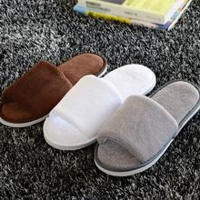 Vrouwen Mannen Thuis Anti-slip Schoenen Zachte Winter Warm Sandaal Huis Indoor Slippers
