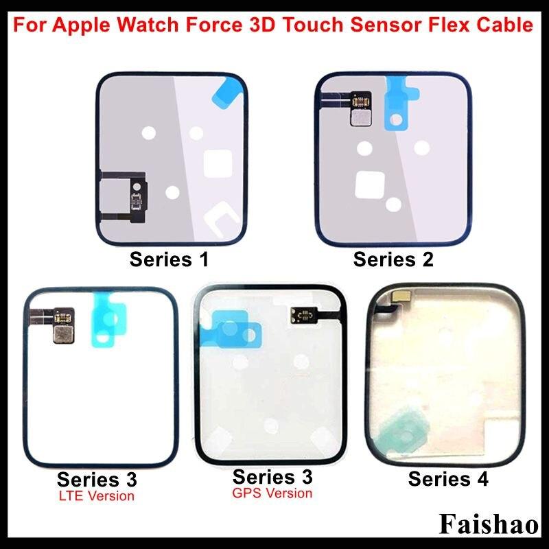 FaiShao fuerza 3D Touch Sensor Flex Cable para Apple Watch Series 1, 2, 3, 4 la gravedad de bobina de detección de 38mm 42mm 40mm 44mm