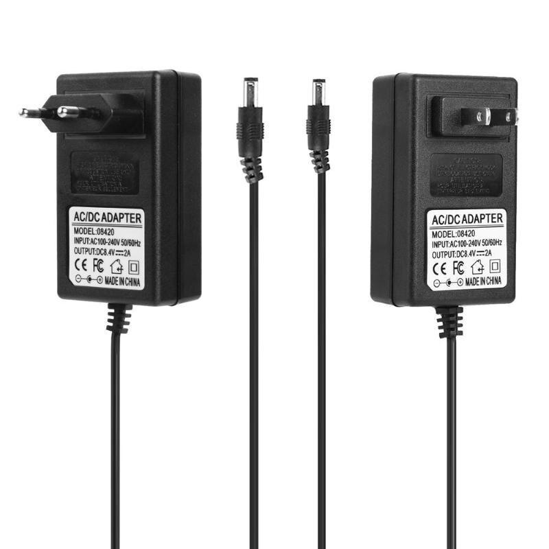 8.4V 2A/ 16.8V 1A 18650 Lithium Battery Charger DC5.5mm Plug Power Adapter for 18650 Battery Charger for 18490 14650 EU US Plug
