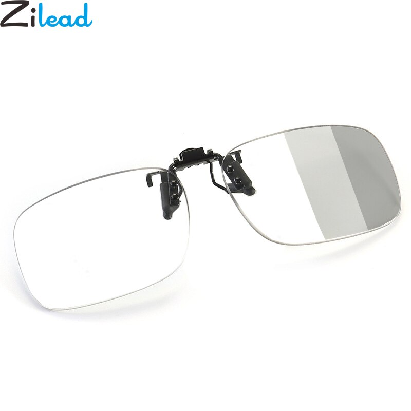 Zilead Progressive Multifocal Photochromism Clip On Reading Glasses Anti Blue Light Transparent Driving Presbyopic Eyeglasses
