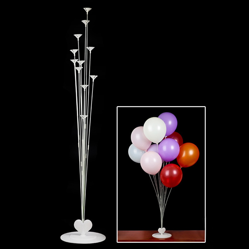 11 En 1 soporte de columna de globo soporte de mesa flotante soporte de exhibición Base de accesorios de tubo de globo para fiesta de cumpleaños de boda suministros
