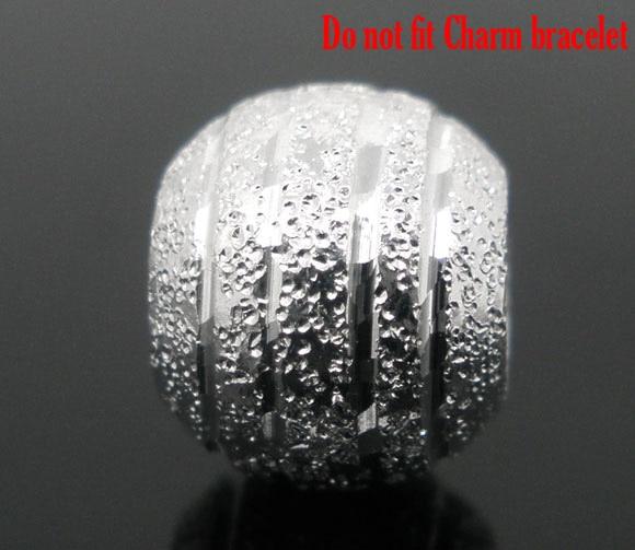Doreenperles 80 pièces argent plaqué Stardust boule entretoises perles 8mm Dia. (B04367) yiwu