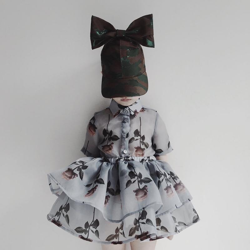 2019 niñas pequeñas vestido niñas moda TUTU vestido rosa patrón vestidos infantiles para niñas vestido