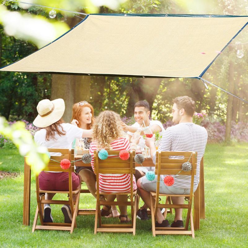 2*3/2*4/2*5 m red de sombra de sol caqui 6 pines de cifrado red de pantalla solar aislante para el hogar balcón con bordes