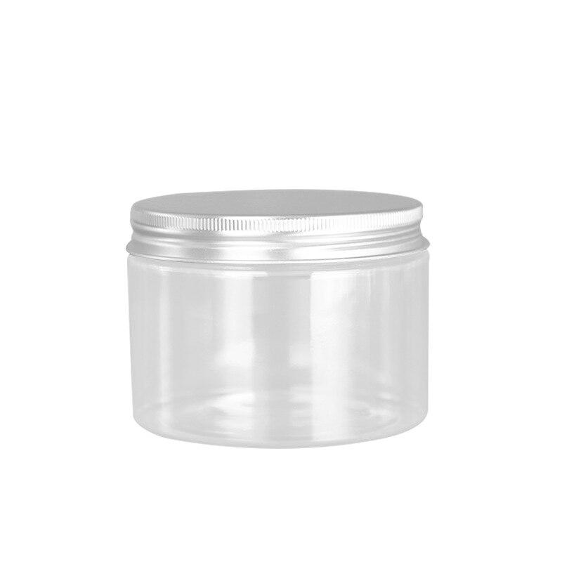 30pcs 300g Thickening Aluminum Cap PET Continer 300ml Transparent bottle Cream Jar PET Box Plastic clear Pot big mouth