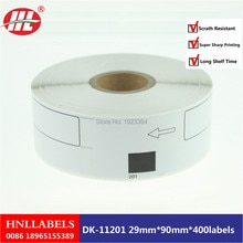 100X Rolls Brother DK-11201 with 1 reusable cartridges frames Adress-Etiketten 29x90 Ql-560 QL-500 QL-700 QL-580n QL-650TD