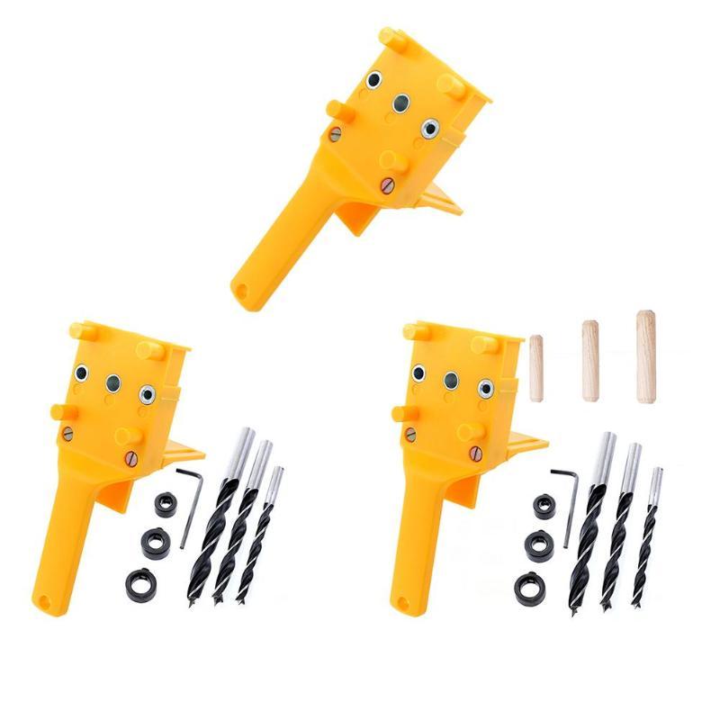 Карманное отверстие джиг ABS пластик деревообрабатывающий ручной джиг для 6/8/10 мм сверло дюбель шарниры бурение столярные инструменты