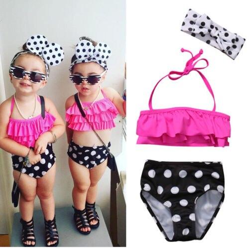 Trajes de baño para niñas Pudcoco 1Y-6Y lindo niño niños bebé niñas traje de baño Tankini Bikini Set