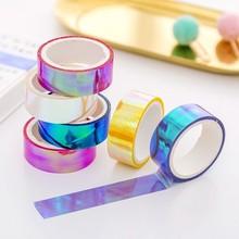 5m Laser Glitter Washi Tape Decorative Adhesive Masking Scrapbooking Girl Album Stationery Tape stationery stickers photo Diary