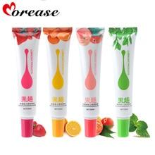 Morease 1 pc Fruit comestible huile lubrifiante fraise Orange pêche thé vert 50 ml corps Anal Vaginal lubrifiants tout sexe lubrifiant Oral