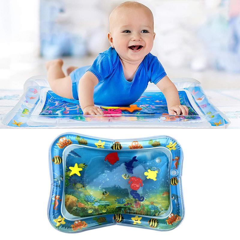 Gran oferta 2020, juguete creativo de doble uso, almohadilla de patinete inflable para bebé, esterilla de agua para la barriga de bebé, cojín de agua