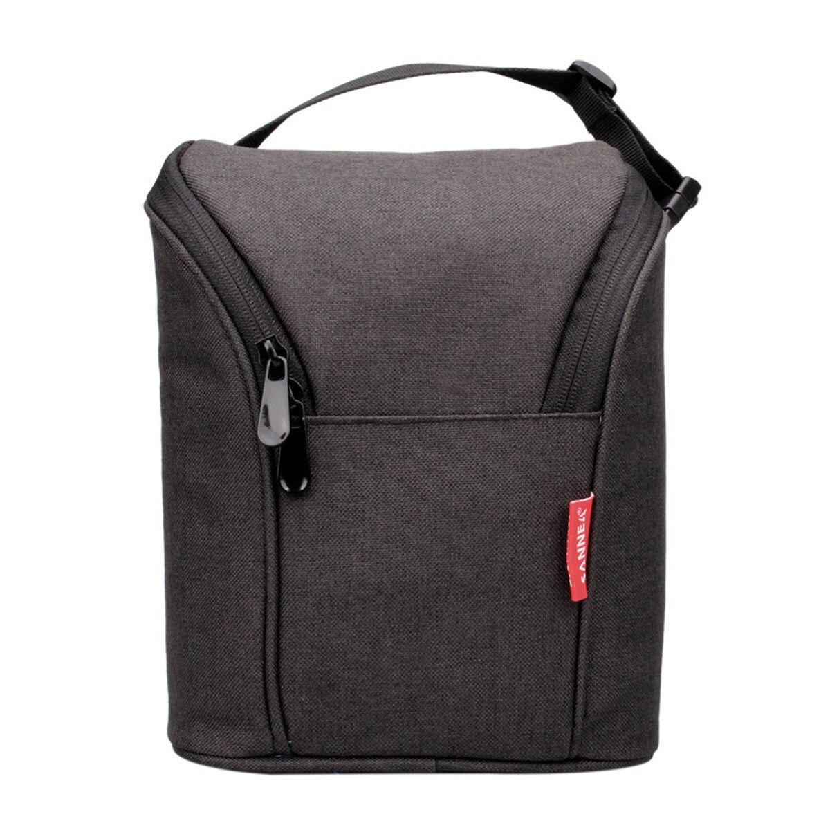 Bolsa de 4L para lonchera, bolsa con aislamiento térmico para viaje, Picnic escolar 17*23*9cm negro/gris/rojo vino portátil
