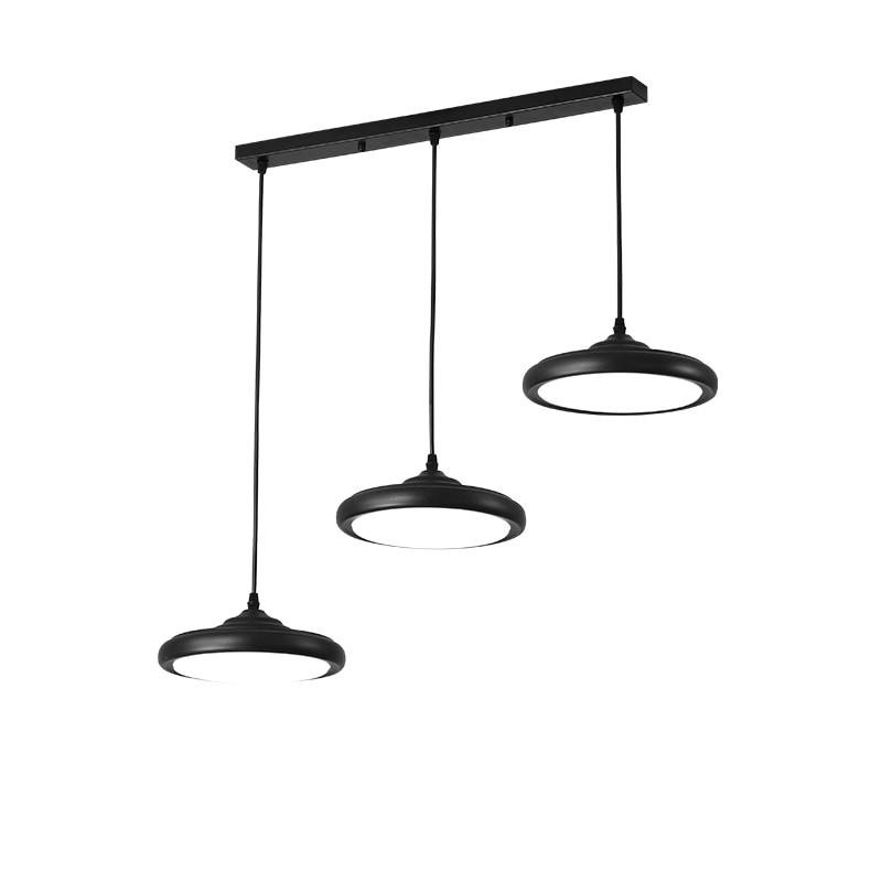 Luces Led colgantes modernas, lámpara De Techo para restaurante, comedor, cocina, accesorios De lámpara, 3 cabezas, 36w, color negro/blanco