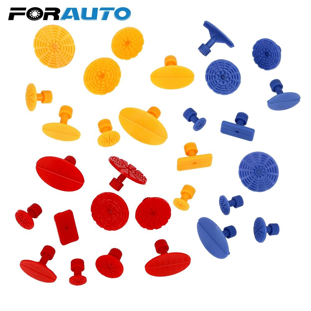10 unids/set herramienta de reparación de abolladuras de carrocería herramienta de reparación sin pintura de reparación de abolladuras de automóviles herramienta de reparación de automóviles lengüetas de pegamento de plástico Auto kit de herramientas PDR