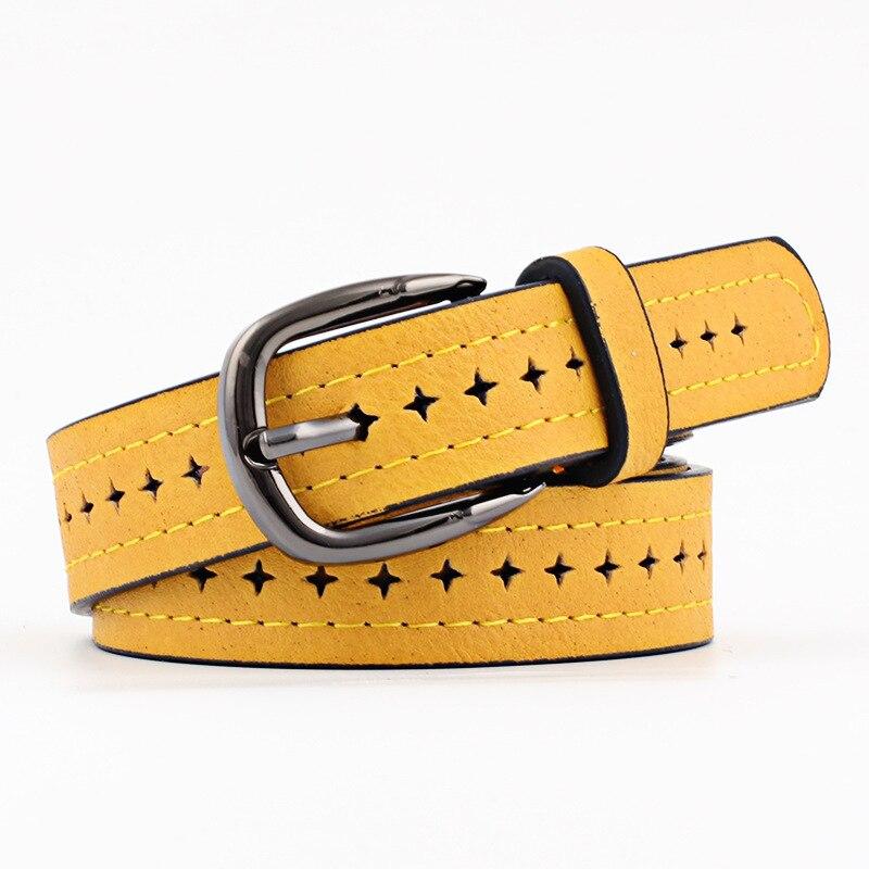 2019 buenos cinturones de mujer cuero de vaca genuino Pin hebilla Estilo Vintage de alta calidad más nueva correa femenina de lujo Original
