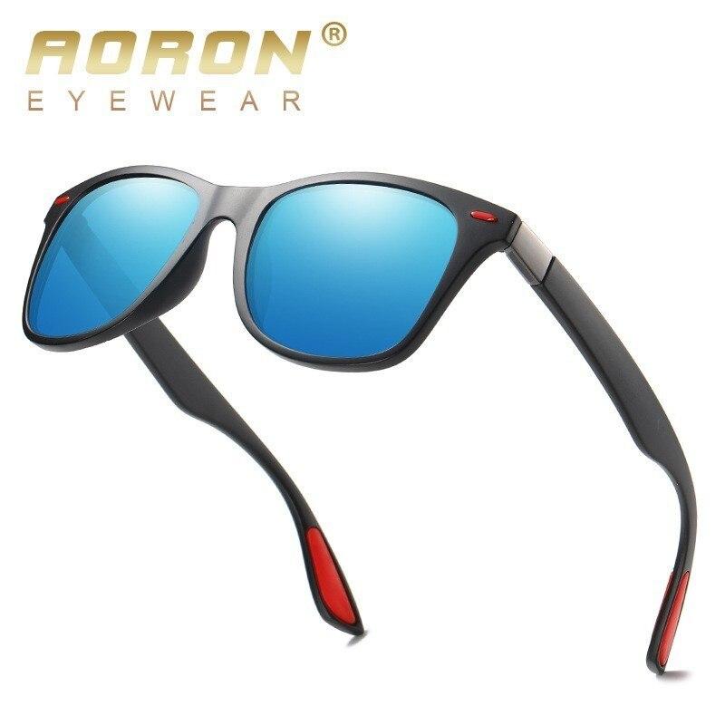 Aoron clásicas Gafas De Sol polarizadas De las mujeres De los hombres conducción marco cuadrado Gafas De Sol De Gafas para hombres UV400 Gafas De Sol