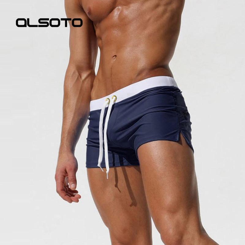 2020 New Swimwear Men Sexy swimming trunks sunga hot swimsuit mens swim briefs Beach Shorts mayo de