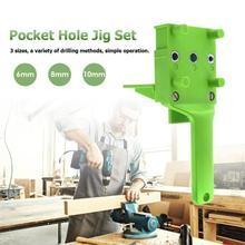 Pocket Hole Jig Handheld Dowel Jig ABS Plastic Woodworking Jig For 6 8 10mm Dowel Joints Drilling Guide Tools
