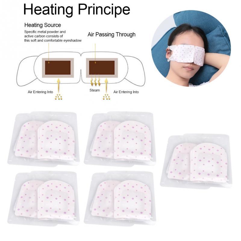 10 unids/set mascarilla de vapor para ojos autocalentante antifatiga para ojos, antifaz húmedo sin fragancia