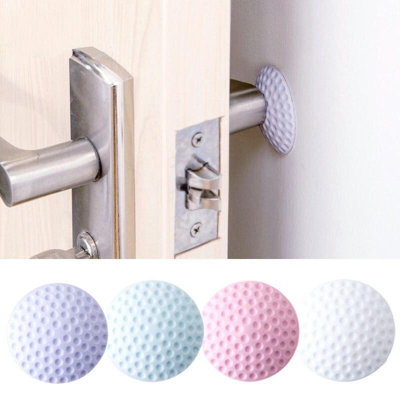 1 ud. Guardabarros de puerta de pared engrosamiento Mute modelado de goma Fender el mango cerradura de la puerta protectora Pad para la protección de la pared