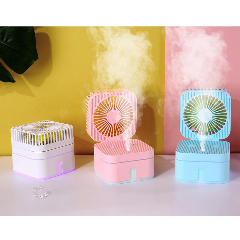 ¡Nuevo! ventilador humidificador portátil Mini Usb recargable, ventilador humidificador Combo para pequeños escritorios y ventiladores domésticos
