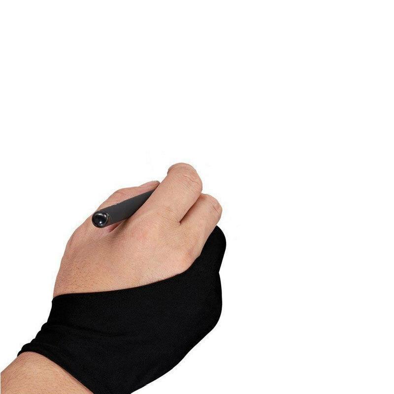 1 ud. Guante antisuciedad de dos dedos para artista profesional dibujo pintura pluma gráfica tableta Pad Anti-fouling nueva moda