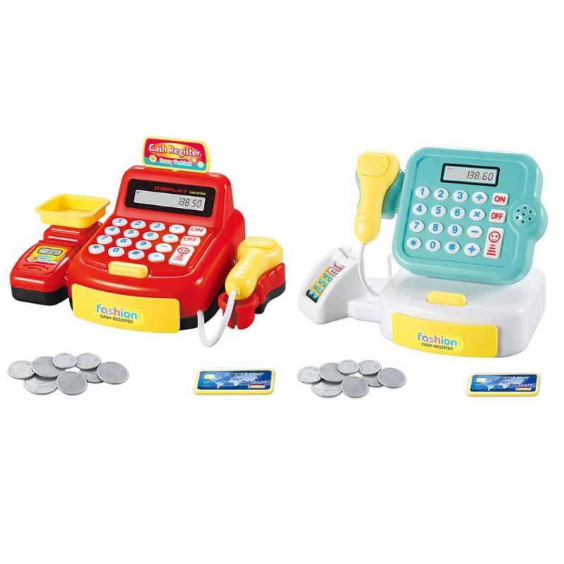 Caja Registradora de juguete de cajero de papel de contador de pago de supermercado simulado