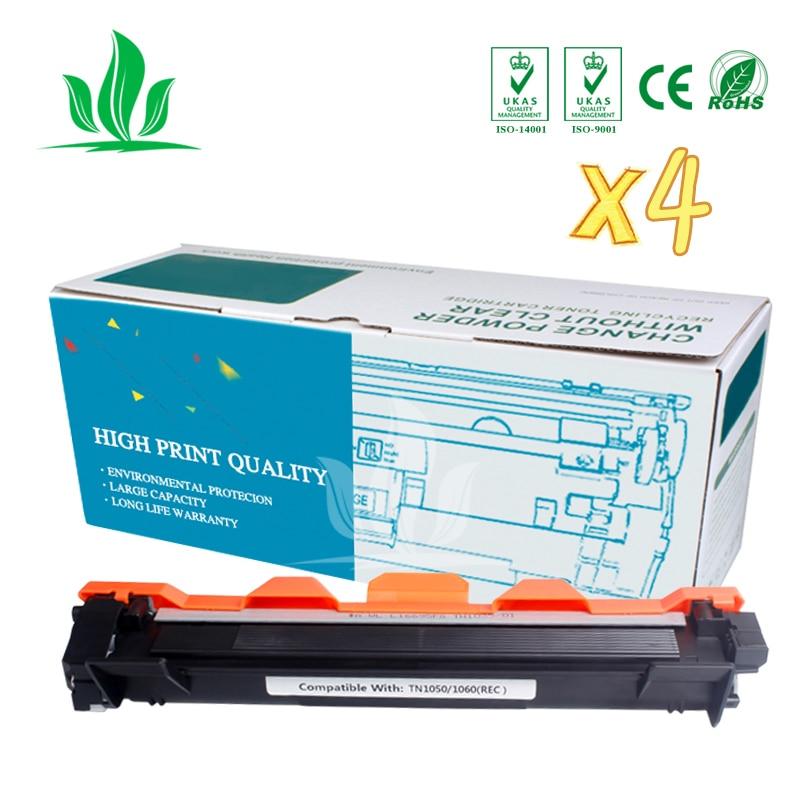 TN1050 4 piezas cartucho de toner Compatible para Hermano TN1000 TN1030 TN1050 TN1060 TN1070 TN 1075