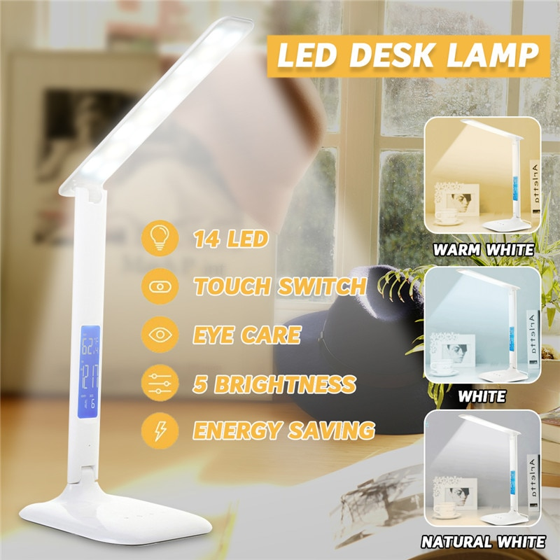 Smuxi 14 LED Schreibtisch Lampe 1800LM USB Port Folding Lesebrille Lampe Dimmer T ouch Control Licht Nacht Licht AU Stecker AC110-240V