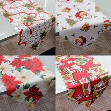 عيد الميلاد سانتا كلوز زهرة سماط الجدول غطاء عيد الميلاد طباعة حزب ديكور المنزل مفرش طاولة