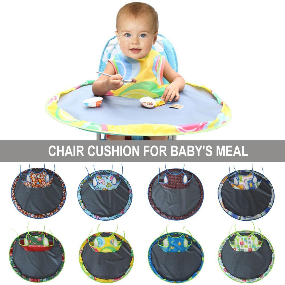 Alfombra de mesa para comer de bebé, cojín de silla de alimentación, almohadilla plegable redonda impermeable para bebés, almohadilla de mesa antisuciedad
