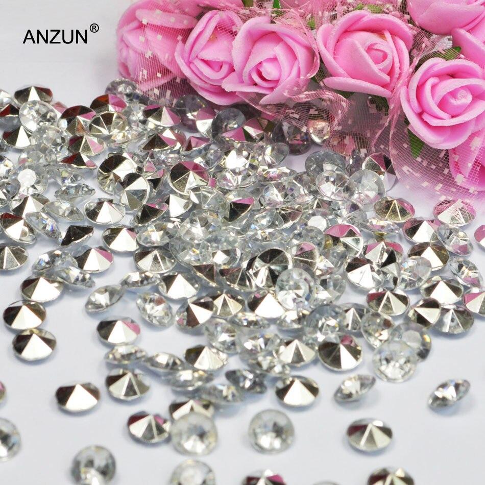 Centros de mesa para Bodas de 1000 Uds., 4,5mm/6mm/8mm/10mm, decoración para fiestas, confeti de diamantes, manteles de mesa de acrílico con cristales plateados