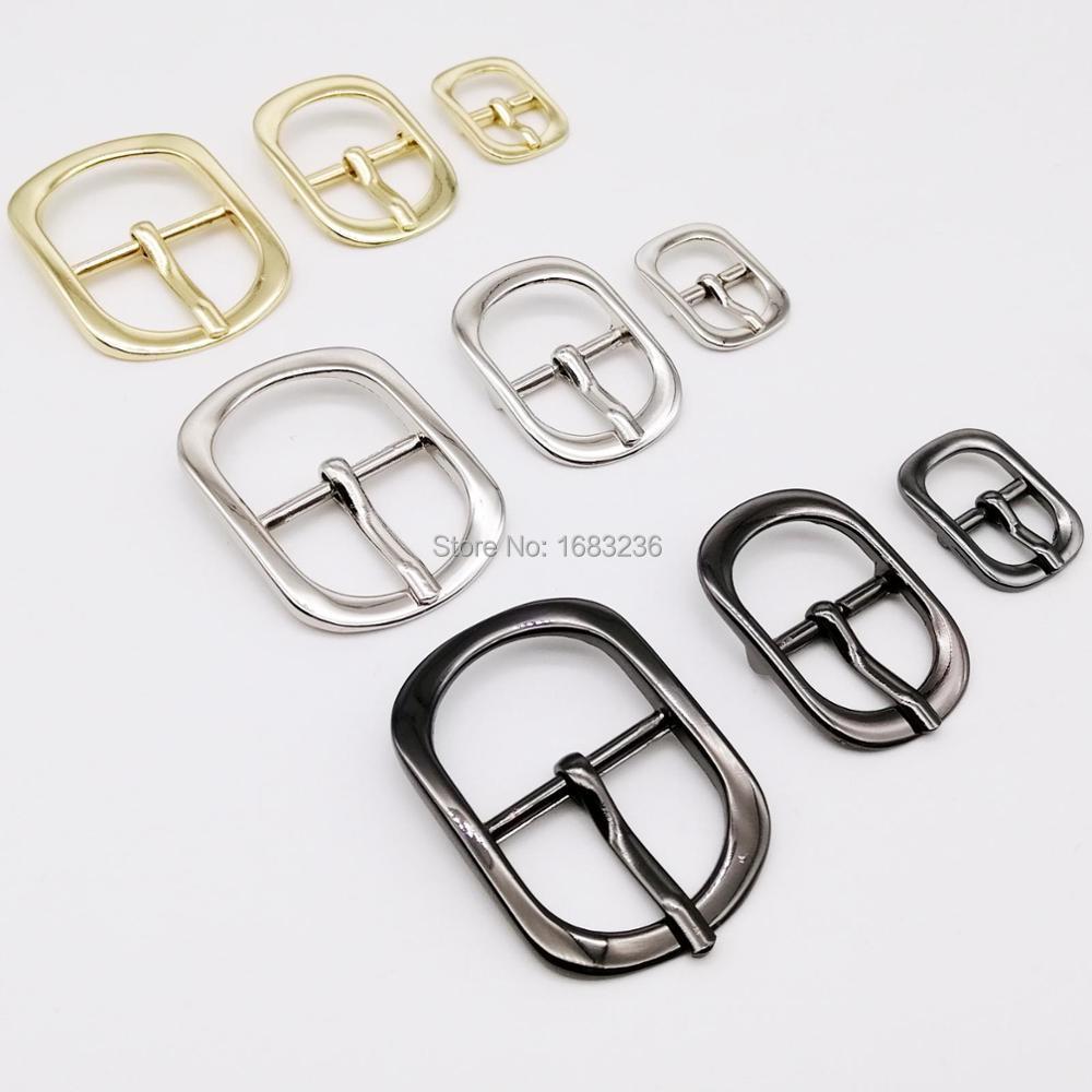 DIY Metal alta calidad bolso de cuero bolso zapato correa de hombro cinturón ajuste pasador de rodillo hebilla broche Oval rectángulo O anillo reparación