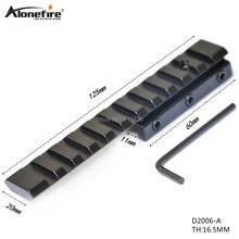1 pièce Extension de D2006-A sportive Picatinny Weaver Rail portée bases vis chasse 20mm/21mm étendre queue daronde weaver mount