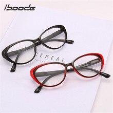 Iboode kocie okulary do czytania kobiety mężczyźni elegancki Ultralight okulary do czytania Unisex okulary do czytania + 1.0 1.5 2.5 3.5 4.0