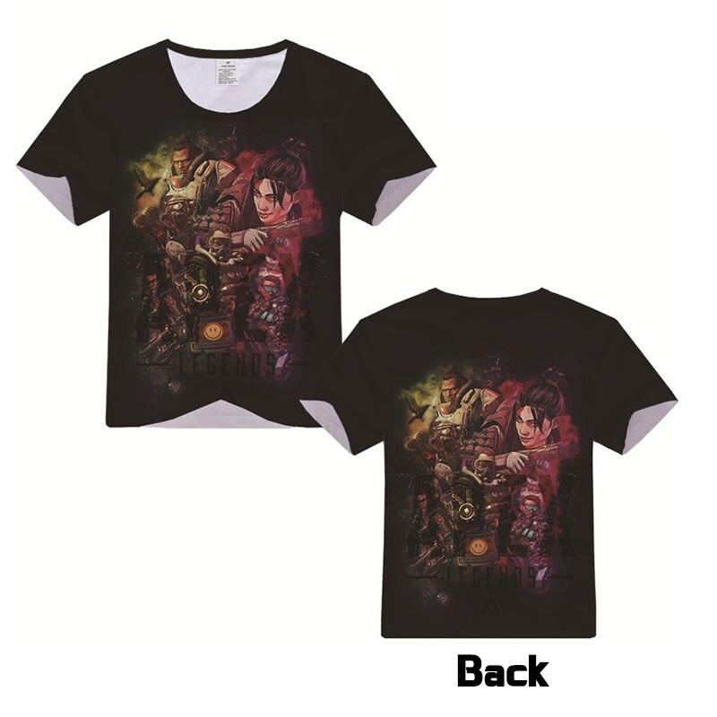 2019Hot Apex legends camiseta hombres mujeres manga corta verano vestido dibujos animados Apex leyendas juego Tops Unisex camiseta