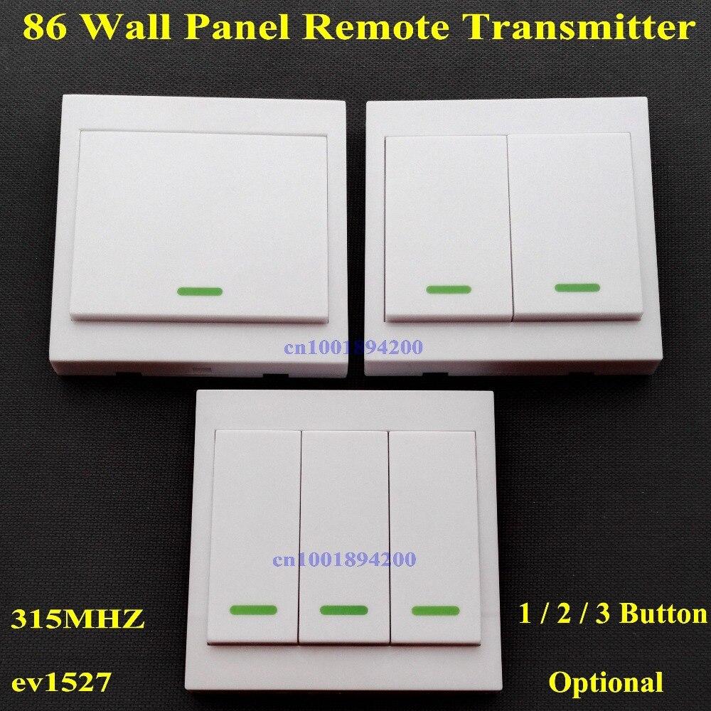 86 painel de parede transmissor remoto 1 2 3 botão pegajoso rf tx casa inteligente sala estar quarto salão wirelss remote315/433 ev1527