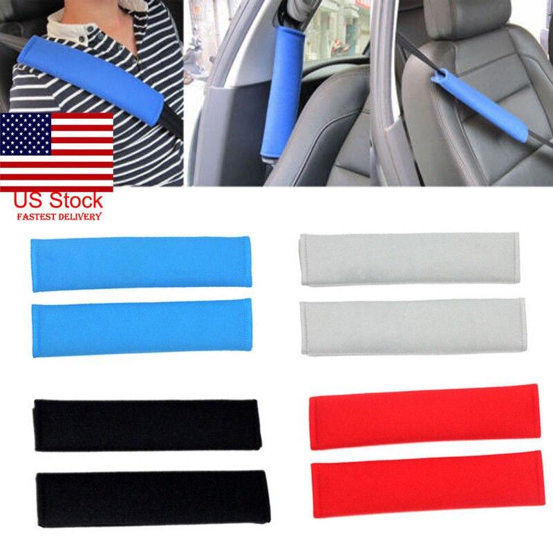 2 uds Auto cinturón de seguridad de algodón para niños para coches Protección de hombro estilo de coche cinto almohadilla en la cubierta del cinturón de seguridad cinturones de seguridad almohada