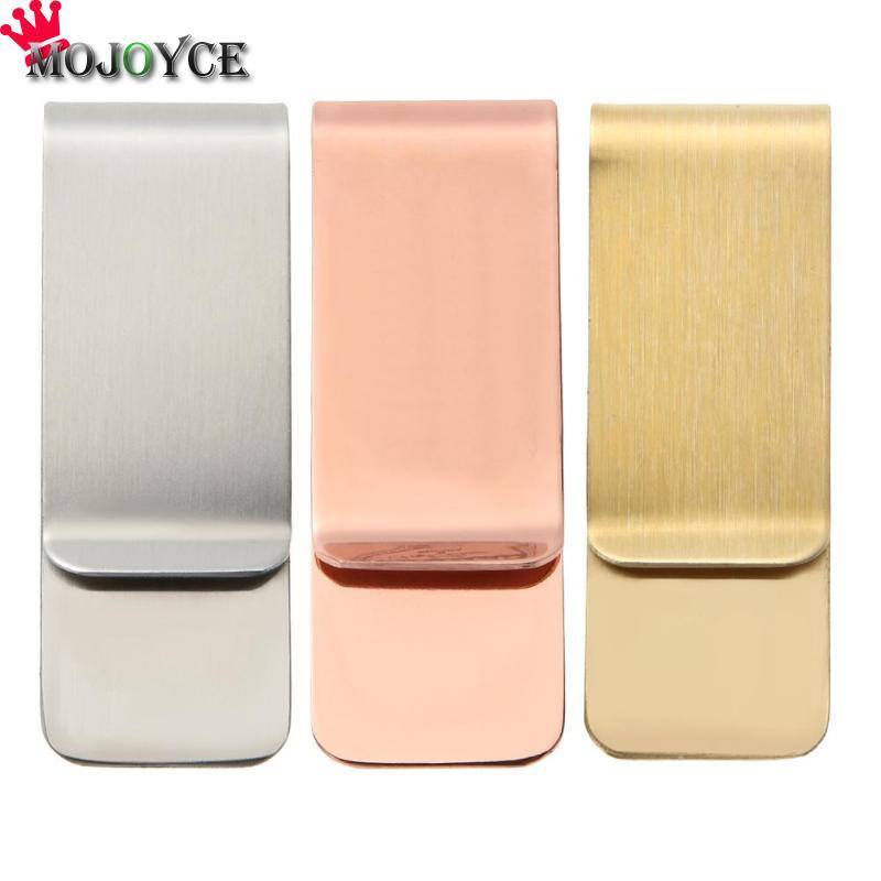 Metal Stainless Steel Money Clip Folder Collar Clip Holder for Pocket Purse