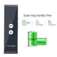 T8 Portable Mini Wireless Smart Translator 40 Languages Two-Way Real Time Instant Voice Translator APP Bluetooth Multi-Language